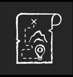 Adventure film chalk white icon on black vector