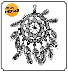 American indian dreamcatcher shaman vector