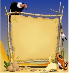 animal skin banner in desert vector image