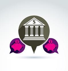 Bank versus Piggybank credit and deposit money vector