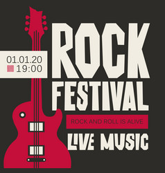 Banner for rock festival of live music vector
