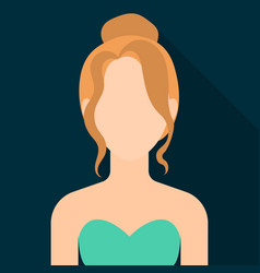 Blonde icon flat single avatarpeaople icon from vector