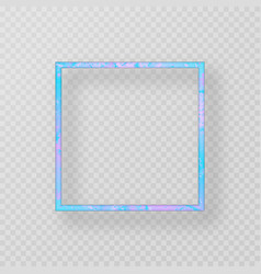 blue metal frame vector image