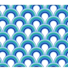 Blue wave abstract seamless background vector image