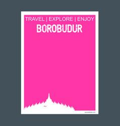 Borobudur jawa tengah indonesia monument landmark vector