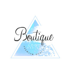 Boutique logo design premium quality badge for vector