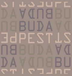 Budapest hungary seamless pattern vector