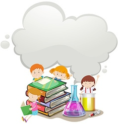 Children and science lab vector