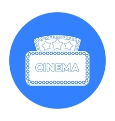 Cinema signboard icon in black style isolated on vector