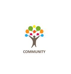 Community communication logo design vector