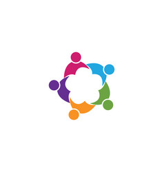 Community people group logo and social icon vector