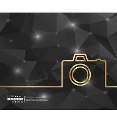 Creative photo camera Art vector