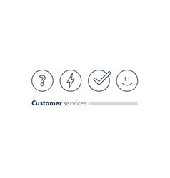 customer services feedback survey quiz concept vector image