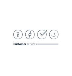 Customer services feedback survey quiz concept vector
