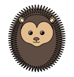cute and tender porcupine vector image vector image