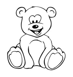 cute teddy bear cartoon vector image