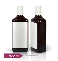 dark realistic square scotch bottles vector image