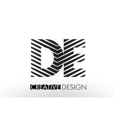de d e lines letter design with creative elegant vector image