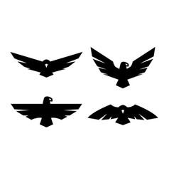 Eagle a set monochrome logos vector
