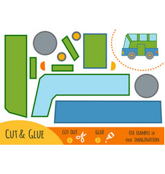 education paper game for children bus vector image