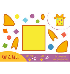 education paper game for children gift vector image
