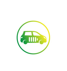 Electric car clean transport icon on white vector