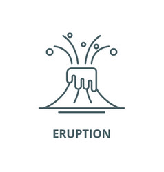 eruption line icon linear concept outline vector image