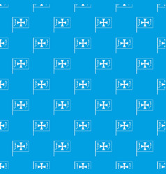 flag of columbus pattern seamless blue vector image