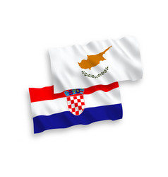 flags cyprus and croatia on a white background vector image