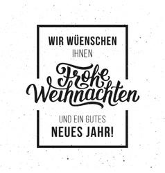 Frohe Weihnachten typographic card vector