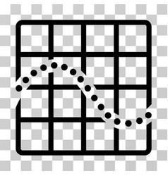Function chart icon vector