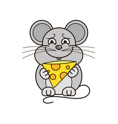funny and cute mouse vector image