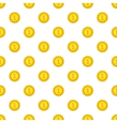 Gold medal for first place pattern cartoon style vector