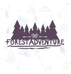 hand drawn modern brush lettering adventure vector image