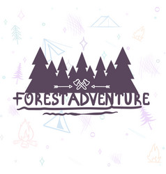 hand drawn modern brush lettering of adventure vector image