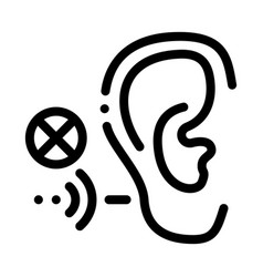 Hearing impairment icon outline vector