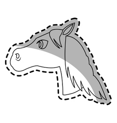 Horse animal icon vector