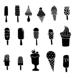 ice cream set isolated on white vector image