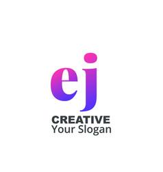 Initial letter ej lowercase design logo template vector