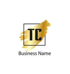 initial letter tc logo template design vector image