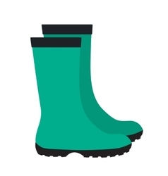 Insulated Rubber Boots Icon vector image