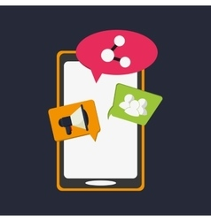 internet mobile communication related icons image vector image