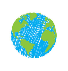 isolated earth sketch vector image