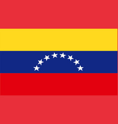 Isolated flag venezuela country south america vector