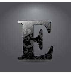 Letter E vector