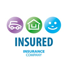 Logo for life insurance car and real estate vector