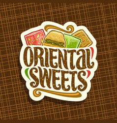 Logo for oriental sweets vector
