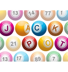 lottery or bingo balls vector image