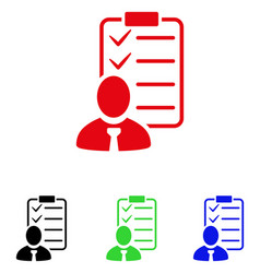 Manager check list icon vector