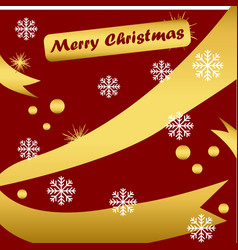 merry christmas background or wallpaper or card vector image